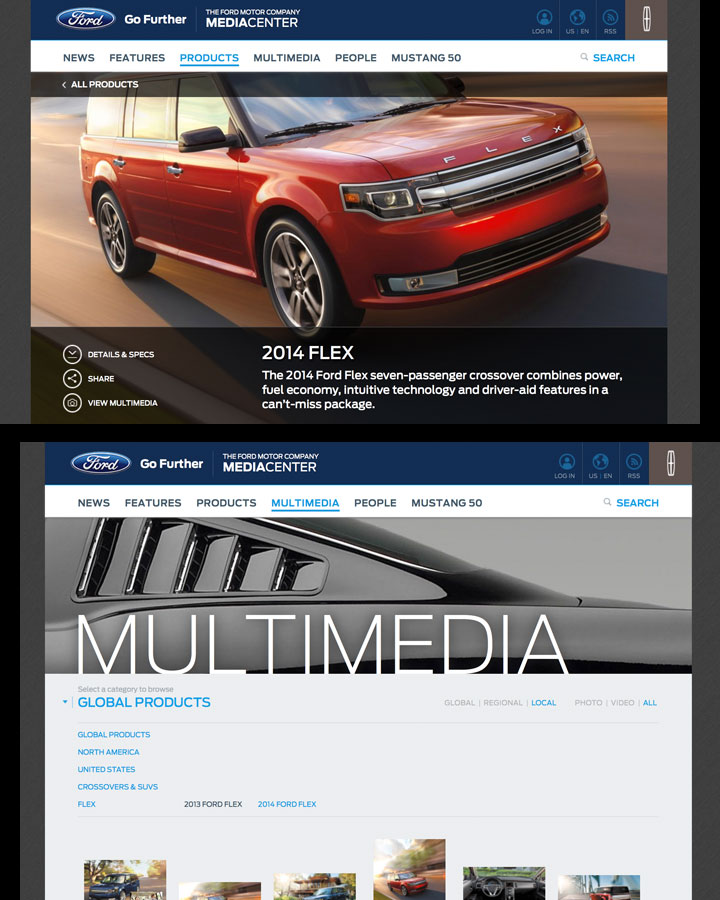 Ford Media, Automotive Website